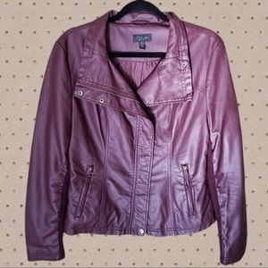 RD Style Faux Leather Moto Jacket